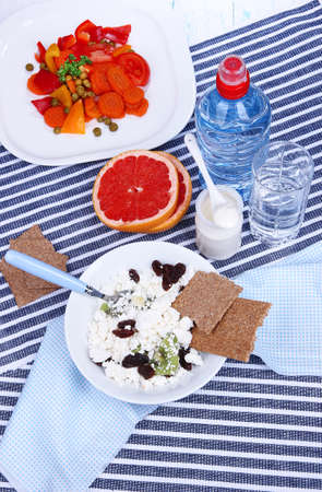 Easy fitness food to sustain shape in form photo