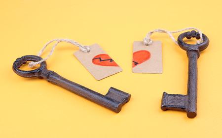 Keys to heart, Conceptual photo.  photo