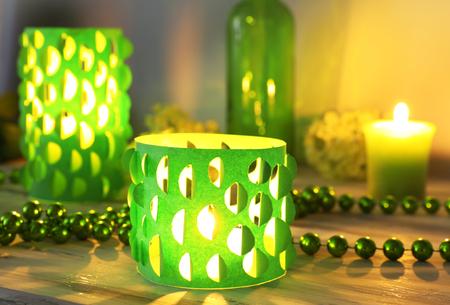 candlelit: Home decor, candle lights on table