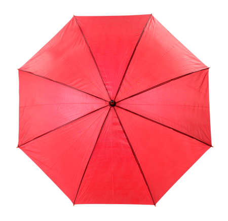 Red Umbrella isolated on white photo