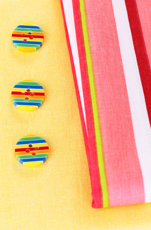Sewing accessories and fabric close-up Stock Photo - 27704939