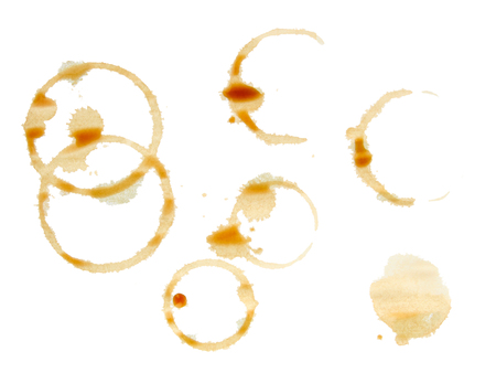 smudgy: Coffee stains isolated on white