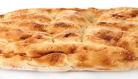 Pita bread isolated on white photo