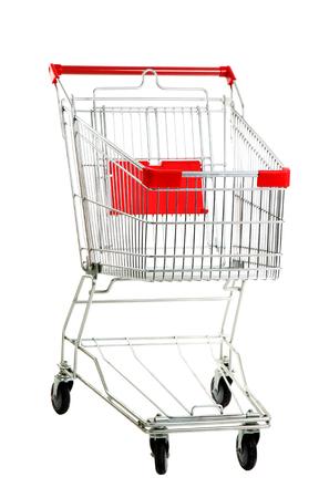 Shopping cart, isolated on white photo