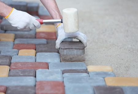 Tile paving photo