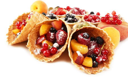 healthy snack: Fresh berries dessert for healthy snack  close up
