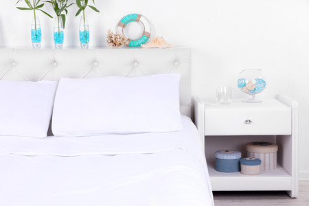 comfortable: Comfortable soft bed in room