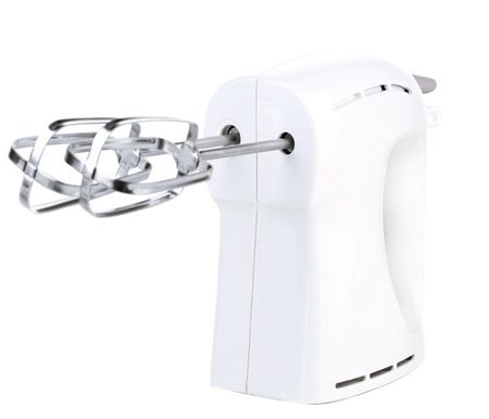 batteur �lectrique: M�langeur �lectrique moderne, isol� sur blanc