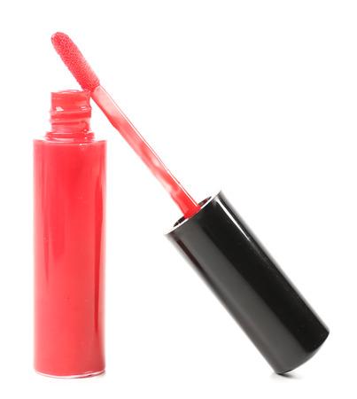 gloss: Beautiful lip gloss, isolated on white