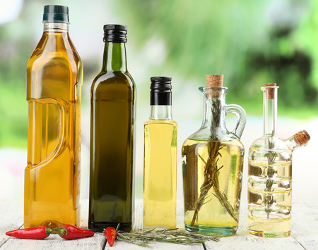 cooking oil: Different sorts of cooking oil, close-up