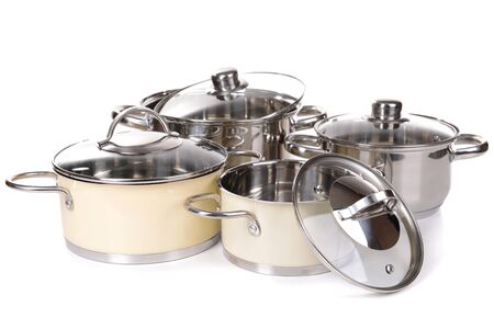 daily use item: Pans isolated on white