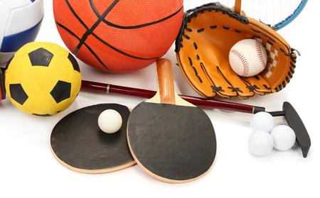 teen golf: Equipamiento deportivo aislado en blanco