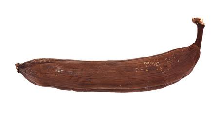 bad banana: Black rotten banana isolated on white