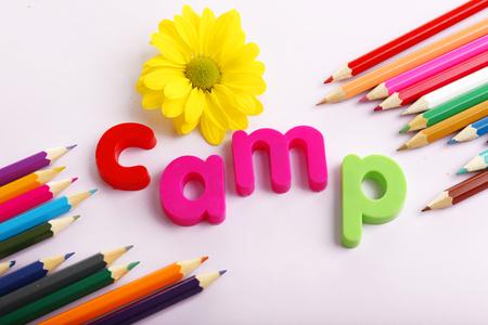 Summer Camp concept Stock Photo