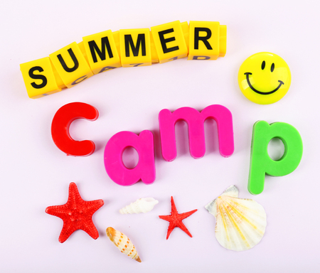 Summer Camp concept Stock Photo
