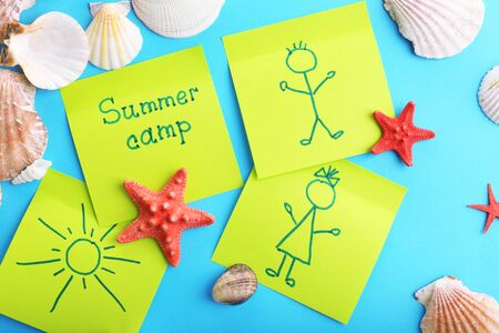 holiday message: Summer Camp concept Stock Photo