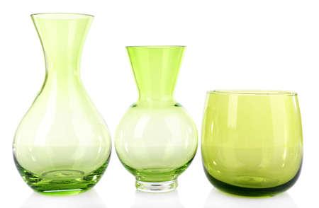 glass vase: Glass vase isolated on white