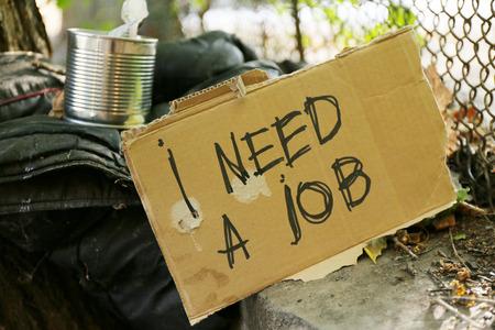 needy: Things homeless outdoors
