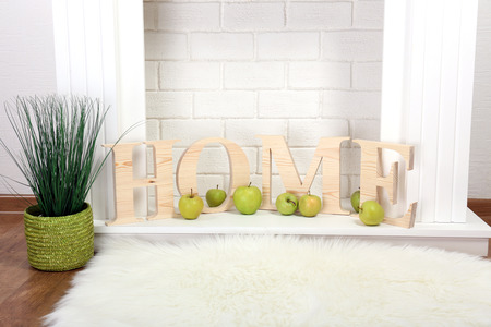 Home decoration in living room Stock Photo