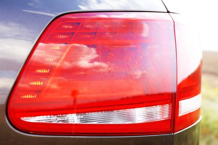 headlights: Headlights of car, close-up Stock Photo