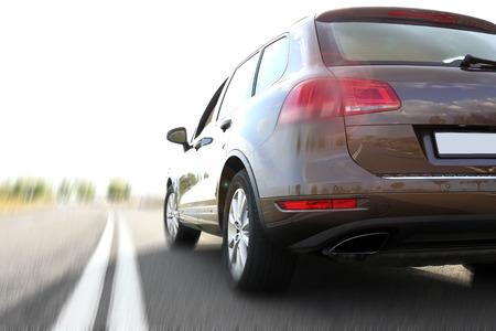 Car on road Standard-Bild