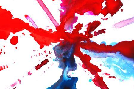 pintura derramada: Pintura derramada aislados en blanco
