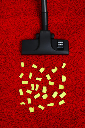 keeping room: Vacuum cleaner to tidy up carpet