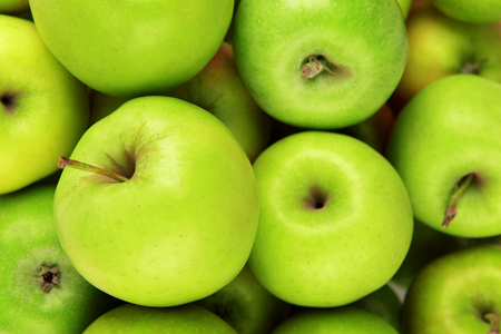 green apples: Ripe green apples close up
