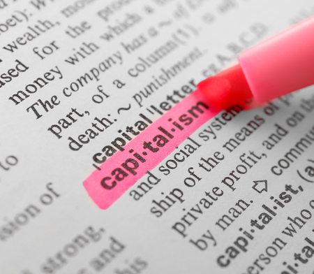 highlighting: Pink marker highlighting word in dictionary