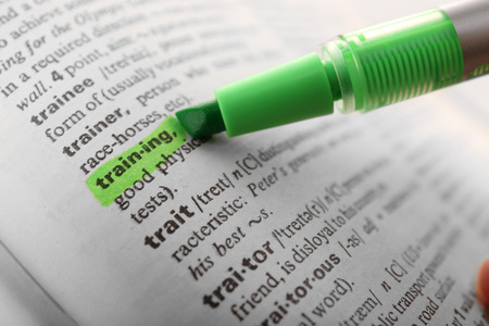 highlighting: Green marker highlighting word in dictionary