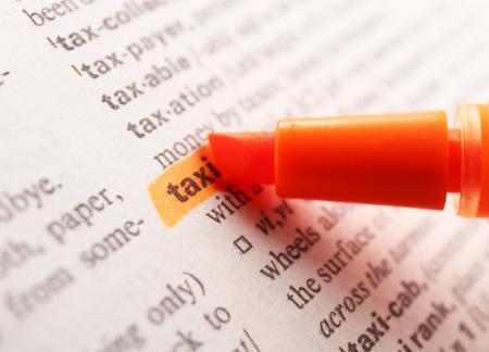 highlighting: Orange marker highlighting word in dictionary Stock Photo