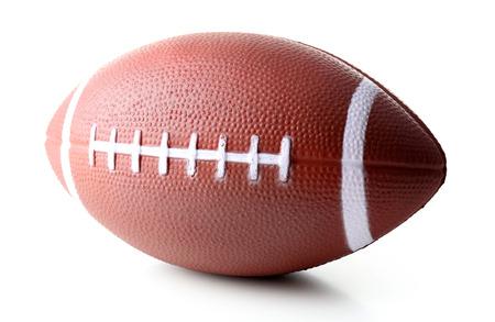 白で隔離ラグビー ボール 写真素材