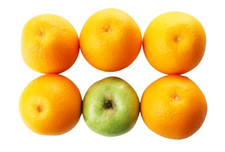 juicy: Juicy oranges and apple, close-up