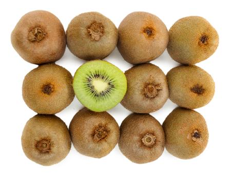 juicy: Juicy kiwi isolated on white