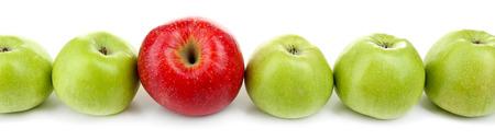 juicy: Juicy apples isolated on white Stock Photo
