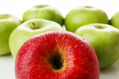 juicy: Juicy apples close-up Stock Photo