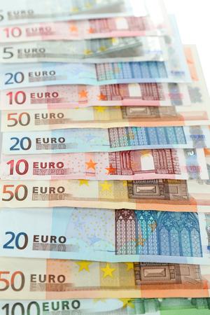 banconote euro: Le banconote in euro close-up di sfondo