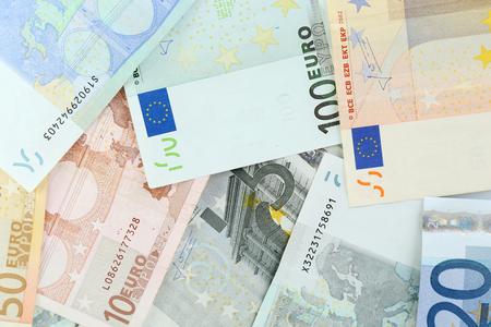 euro banknotes: Euro banknotes close-up background Stock Photo