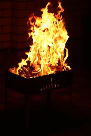 brazier: Bonfire in brazier