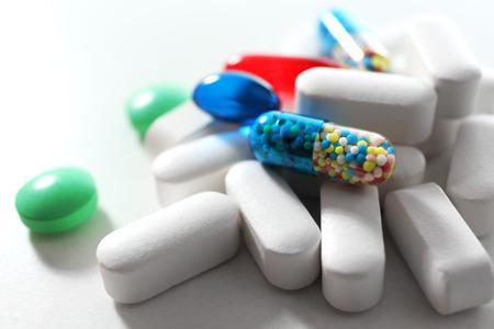 Pile di pillole, close-up Archivio Fotografico - 50326542