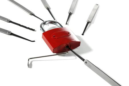 picks: Lock picks isolated on white