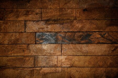 panelling: Brown old wood texture close-up background Stock Photo