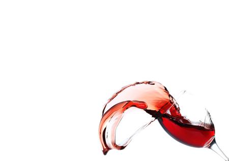 viscosity: Splash of red wine isolated on white