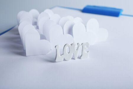 applique: Beautiful applique paper with hearts