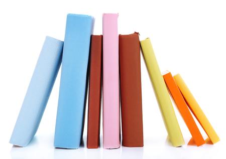 secretary tray: Books isolated on white Stock Photo