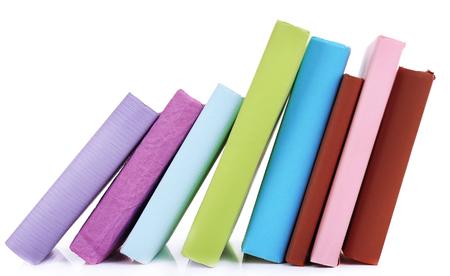 secretary tray: Falling books isolated on white