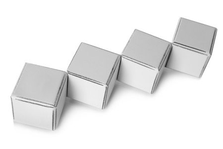 educational: Educational cubes, isolated on white Stock Photo