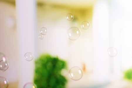 Soap bubbles, abstract background Stock Photo