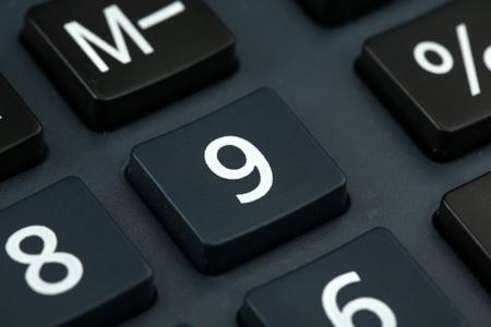 Macro view of calculator board Standard-Bild