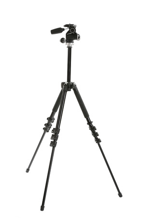 Camera tripod isolated on white